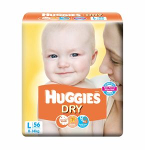 Huggies Dry - Best Taped Diapers in India