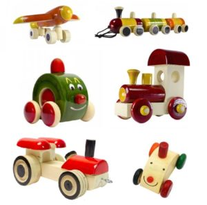 Ceejay wooden car, train, aeroplane toys in India