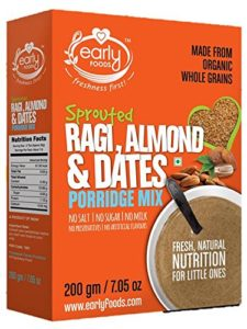 Early Foods Organic Sprouted Ragi Almond Date Porridge Mix Infant