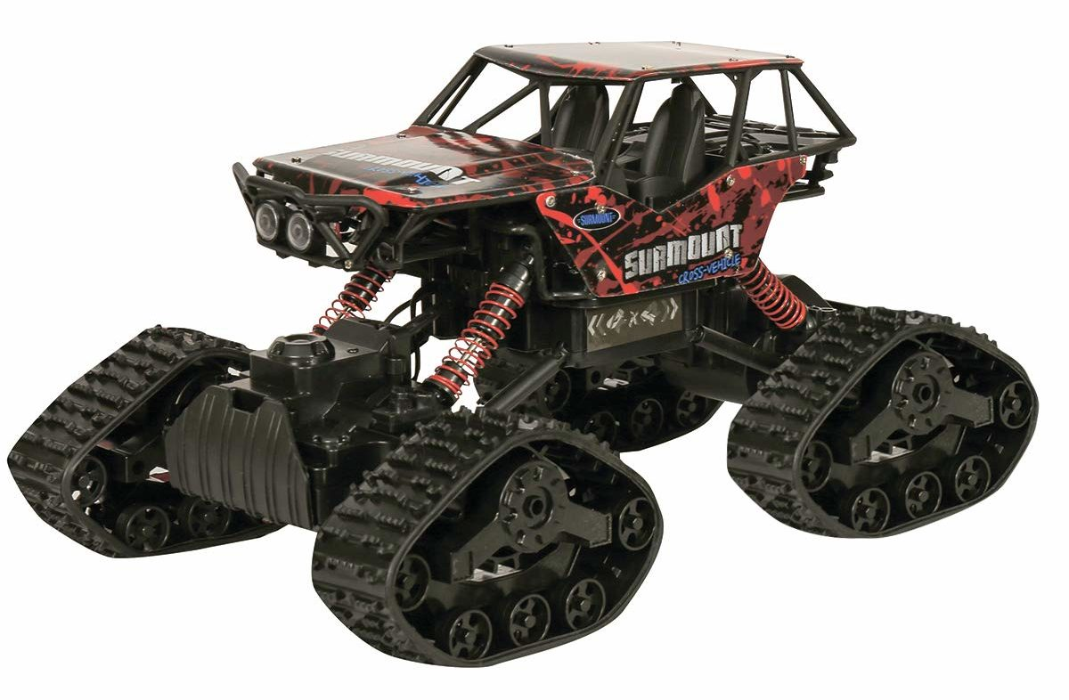 ICW Monster Truck RC Car with 6 wheel drive & tank belt wheels